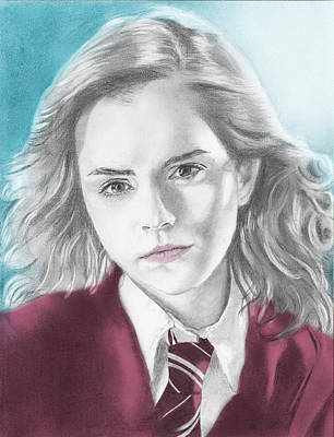 Hermione Granger Drawing - Hermione Granger - Individual Blue by Alexander Gilbert