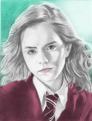 Hermione Granger Drawing - Hermione Granger - Individual Green by Alexander Gilbert