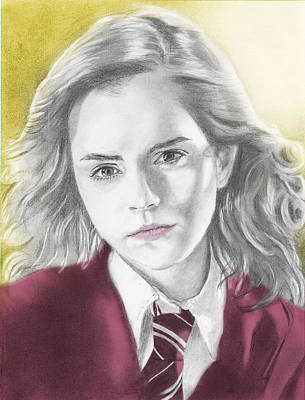 Hermione Granger Drawing - Hermione Granger - Individual Yellow by Alexander Gilbert