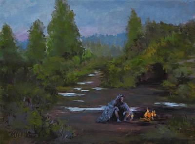 Painting - Hermit Birdman by Karen Ilari