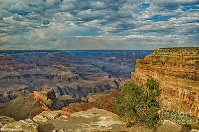 Kazakhstan Digital Art - Hermit Road Viewpoint Grand Canyon National Park by Bob and Nadine Johnston
