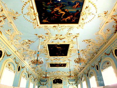Photograph - Hermitage Ceiling by John Potts