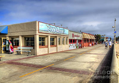 Hermosa Beach Boardwalk Art Print