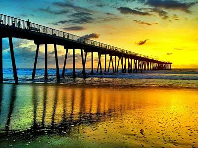 Hermosa Beach In Winter Original by Tom Dupee