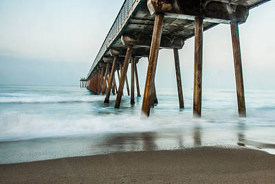 Redondo Beach Pier Wall Art - Photograph - Hermosa Beach Pier 1 by William  Carson Jr