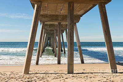 Hermosa Beach Pier Art Print by Ana V Ramirez