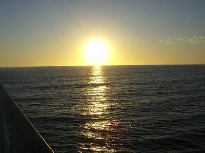 Sun Photograph - Hermosa Beach Sunset by Dan Twyman