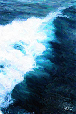 Wall Art - Digital Art - Hermosa Wave by Ryan Cosgrove