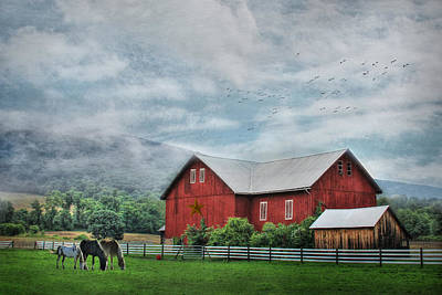 Digital Art - Herndon Horse Farm by Lori Deiter