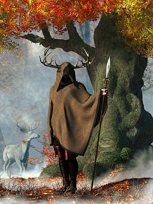 Haunted Digital Art - Herne The Hunter by Daniel Eskridge