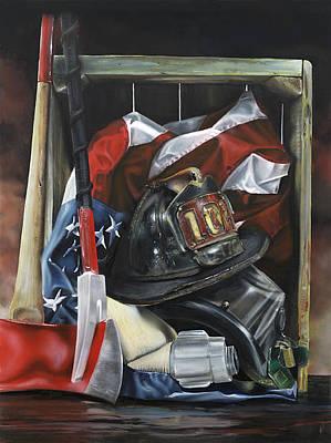 Law Enforcement Art Painting - Hero by John Kiernan