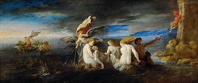 Leander Painting - Hero Mourning The Dead Leander by Domenico Fetti