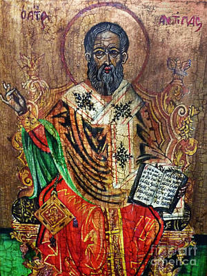 Greek Icon Painting - Herod Antipas by Ryszard Sleczka