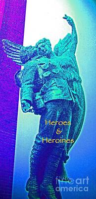 Mixed Media - Heroes And Heroines Group Avatar by First Star Art