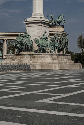 Budapest Hungary Hotels Photograph - Heroes' Square by Sabina Cosic