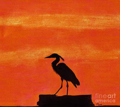 Heron - At - Sunset Original