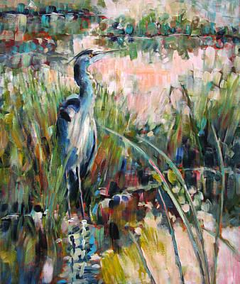 Painting - Heron Attitude by Melissa Gannon