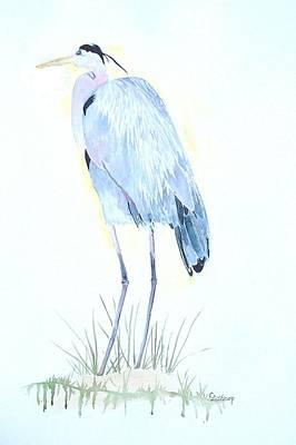 Heron Art Print by Christine Lathrop