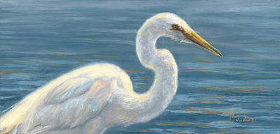 Sea Bird Wall Art - Painting - Heron Light by Lucie Bilodeau