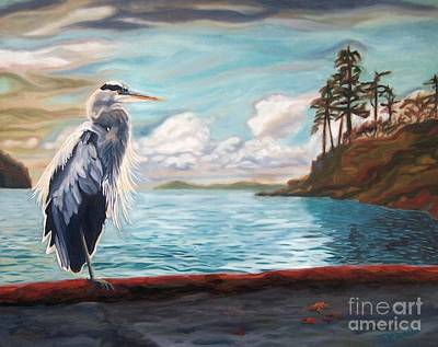 Painting - Heron Mystique by Janet McDonald