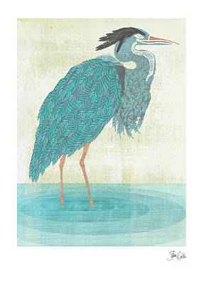 Sea Birds Painting - Heron by Shanni Welsh
