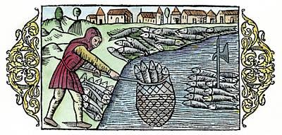 Historia Wall Art - Painting - Herring Fishing, 1555 by Granger