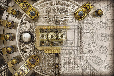 Digital Art - Herring Hall Marvin Co. Bank Vault Door Lock by Serge Averbukh