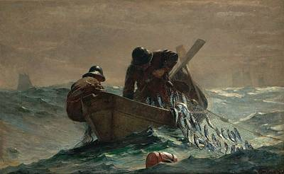 Winslow Homer Seascape Painting - Herring Net  by Philip Ralley