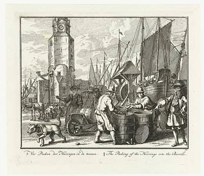 Herring Drawing - Herring Packed In Barrels, Adolf Van Der Laan by Quint Lox