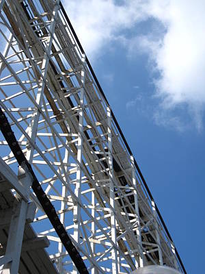 Comet Photograph - Hershey Park - Comet Roller Coaster - 12122 by DC Photographer