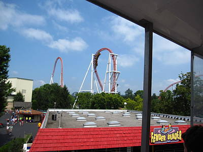 Hershey Park - Great Bear Roller Coaster - 12122 Art Print