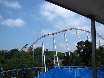 Hershey Park - Great Bear Roller Coaster - 12123 Art Print by DC Photographer