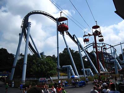 Pennsylvania Photograph - Hershey Park - Great Bear Roller Coaster - 12125 by DC Photographer