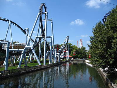 Chocolate Photograph - Hershey Park - Great Bear Roller Coaster - 12126 by DC Photographer