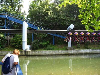 Hershey Park - Great Bear Roller Coaster - 12128 Art Print by DC Photographer