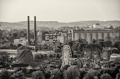 Rollercoaster Digital Art - Hershey Park In Sepia by Bill Cannon