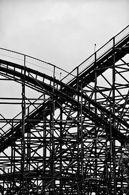 Rollercoaster Digital Art - Hershey Park Rollercoaster by Bill Cannon