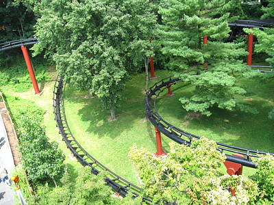 Factory Photograph - Hershey Park - Trailblazer Roller Coaster - 12121 by DC Photographer