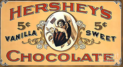 Hersheys Chocolate Ad Poster Art Print by Marvin Blaine