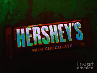 Hershey's Chocolate Bar Art Print by Wingsdomain Art and Photography