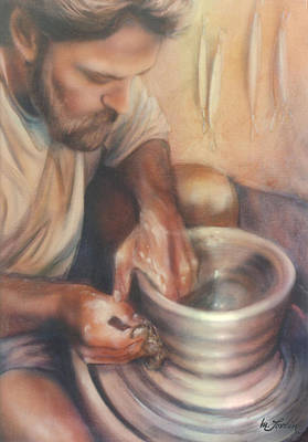 Painting - He's The Potter by Mary Lovein