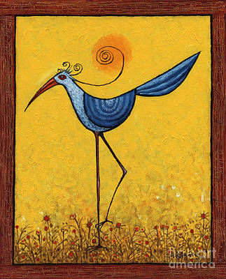 Painting - Hesitant Bird by Terry Durham