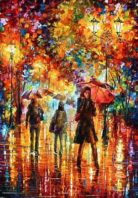 Hesitation Of The Rain Art Print by Leonid Afremov