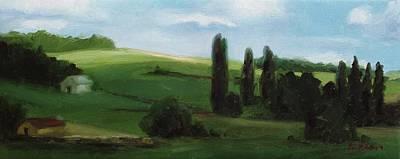 Painting - Hessian Hillside by Erin Rickelton