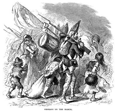1770s Photograph - Hessian Mercenaries, 1770s by Granger