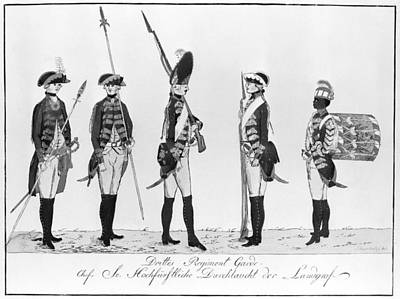 Photograph - Hessian Soldiers by Granger