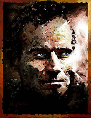 Charlton Painting - Heston - Actor by Hartmut Jager