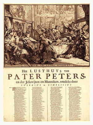 Het Drawing - Het Lusthuys Van Pater Peters, En De Jesuwijten En Munniken by Litz Collection