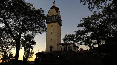 Photograph - Heublein Tower Sunset by Stephen Melcher