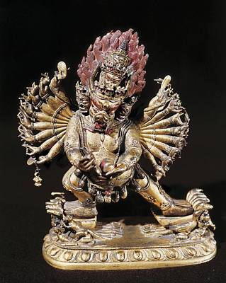 Hevajra. 18th C. Buddhist Tantric Art Print by Everett